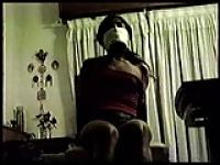 Chairtied, tape gagged and otn gagged