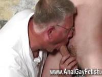 Gay video With his fragile testicles tugged