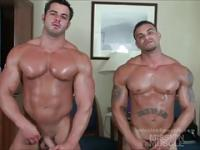 Huge hunks flexing nude