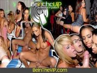 2 Horny Chicks Suck Cock and Pussy in the Club