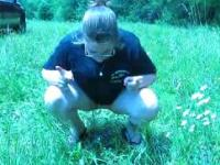 peeing outdoors