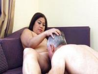 Licking Asian slut pussy