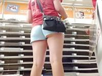 upshorts college girl  at hobby store