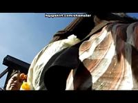 HD movie of view up long skirt