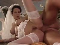 bride foursome sex anal dp