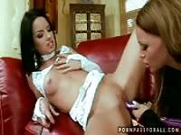 Lesbian passion between two beautiful girls
