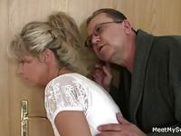 Guy leaves and parents seduce his yummy GF
