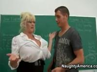The teacher have very big tits