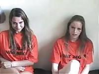 Two Dutch girls sucking a cock