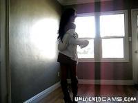 Amateur teen slut srips and dances for the camera.