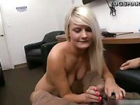 Blond Tosh Locks does handjob