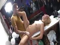 19-year-old slut fucking in public