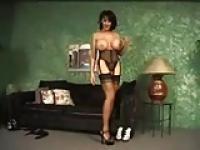 Big tits in stockings