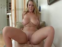 Nice Busty blond gets fucked and has orgasms