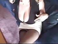 Amateur and busty fat MILF