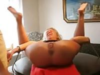 Granny extreme dildo and fisting
