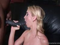 Blonde gets Giant Black Dick