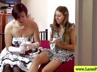 Reife Brit lesbische Muschi zu saugen