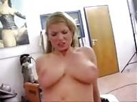 Natural busty woman gets ass-fucked at the shop