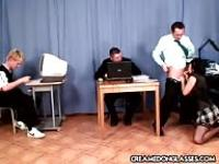 Getting fucked by the professor and two students