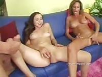 A threesome with his stepmother and stepsister