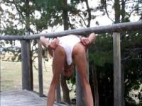 Outdoor In Panties Anal Fisting
