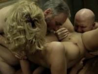 Gorgeous Mandy Dee and Two Older Men dirty sex