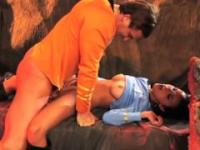 Steamy sex scene on a rocky Alien Planet