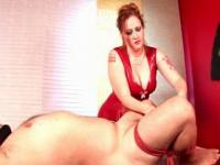 Cock torture for mature blindfolded guy turned sex slav