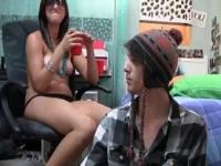 Shy plain girl naked