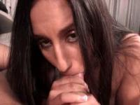 Latina hungry for sex fellating and humping shaft in PO