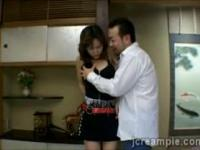 Perv gets lucky seducing a friends Japanese housewife