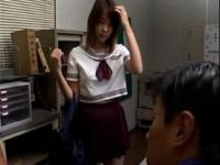Jap girl in uniform massaged erotically by horny teache