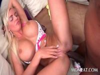 Blonde sex queen in huge tits pussy banged by black coc