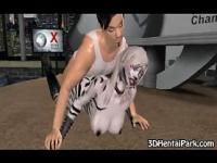 Geilen Stud ficken einen pelzigen 3D Cartoon hart