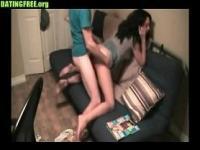 Brunette amateur teen sucking her other boyfriend