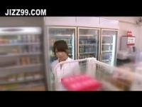 cute teen exposed blowjob in convenience store