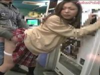 Asian Public Sex at a Arcade