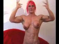Nicole Savage lesbian hot muscle lady