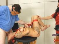 Anal virgin gets her asshole and face punished hard