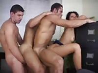 Girl and Three Bisex Guys - Suruba