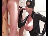 Hot latex catwoman