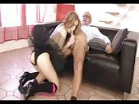 Fucking her teacher with a sexy tutu on