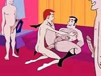 A hot gay orgy