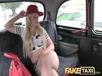 Curvy blonde fucks fake cabbie