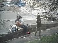 Follando en la calle con los espectadores