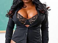 Big booty and boobed black godess teaches student after class