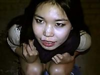 Real asian hottie gets a facial after a good pounding