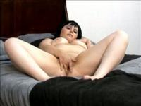 Amateur chubby hottie masturbates her shaved pussy before getting fucked.