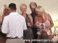 Older gangbang lovemaking celebration